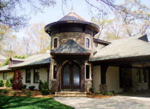 New Stone Entryway in Lake Norman Area