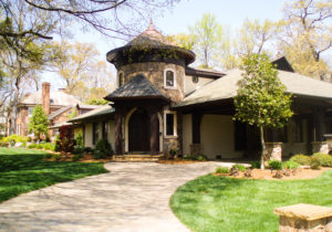 Front Entry Stone Addition in Lake Norman Area