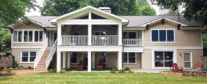 Covered porch exterior renovation Cornelius NC
