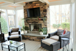 Screen Porch in Fort Mill - Interior