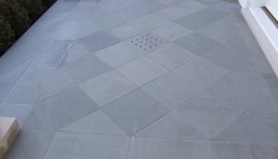 Flagstone Flooring Diamond Pattern