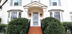 Front Entrance, Covered Porch Addition in Myers Park