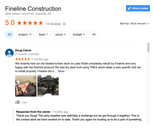 Charlotte Area General Contractor Reviews